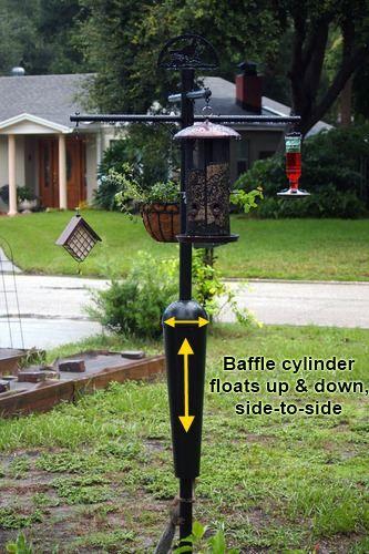 Squirrel proof bird feeder pole and squirrel baffle for Bird feeder pole plans