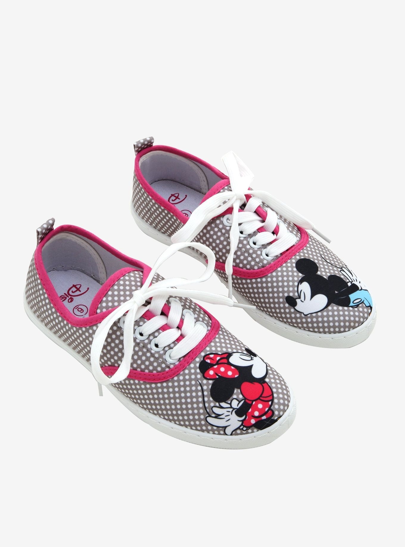 54a23cbbf2bf0 Disney Mickey Mouse & Minnie Mouse Kissing Lace-Up Sneakers in 2019 ...