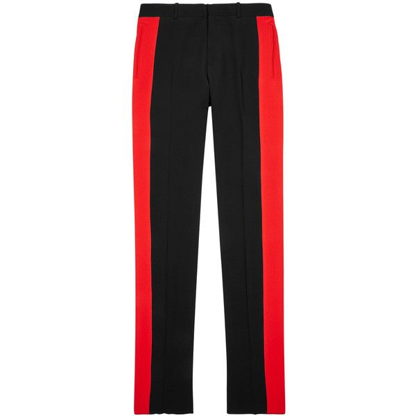 striped slim-leg twill trousers - Black Alexander McQueen kJnIsVMOu