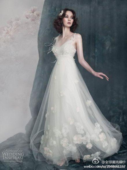 Romantic dress.