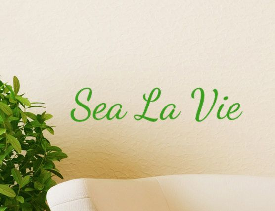 Sea La Vie Beach Decor Wall Decal Word Quotes By HouseHoldWords - Wall decals beach quotes