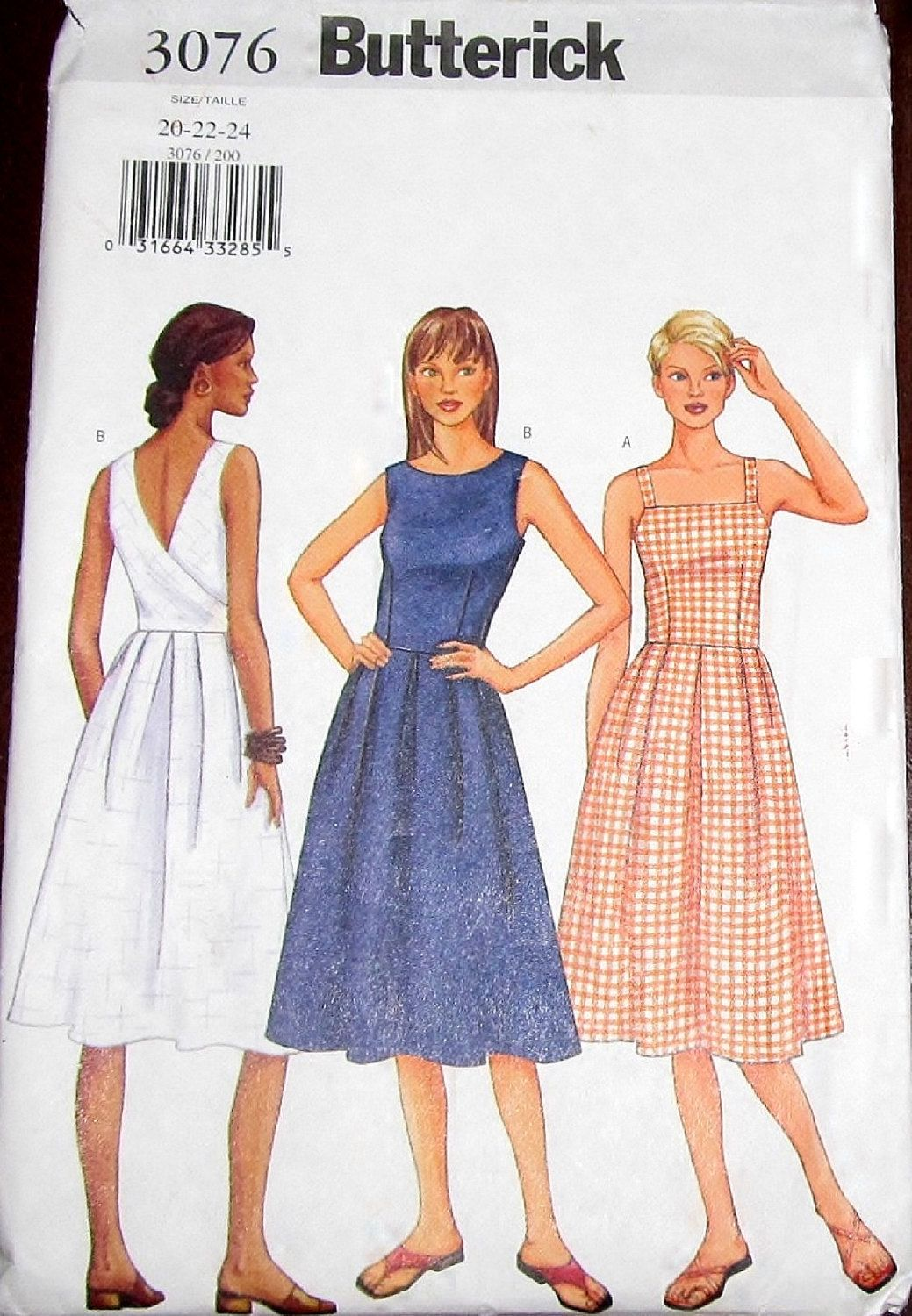 Butterick 3076 fitted sundress back wrap dress womens misses butterick 3076 fitted sundress back wrap dress womens misses easy sewing pattern plus size jeuxipadfo Image collections