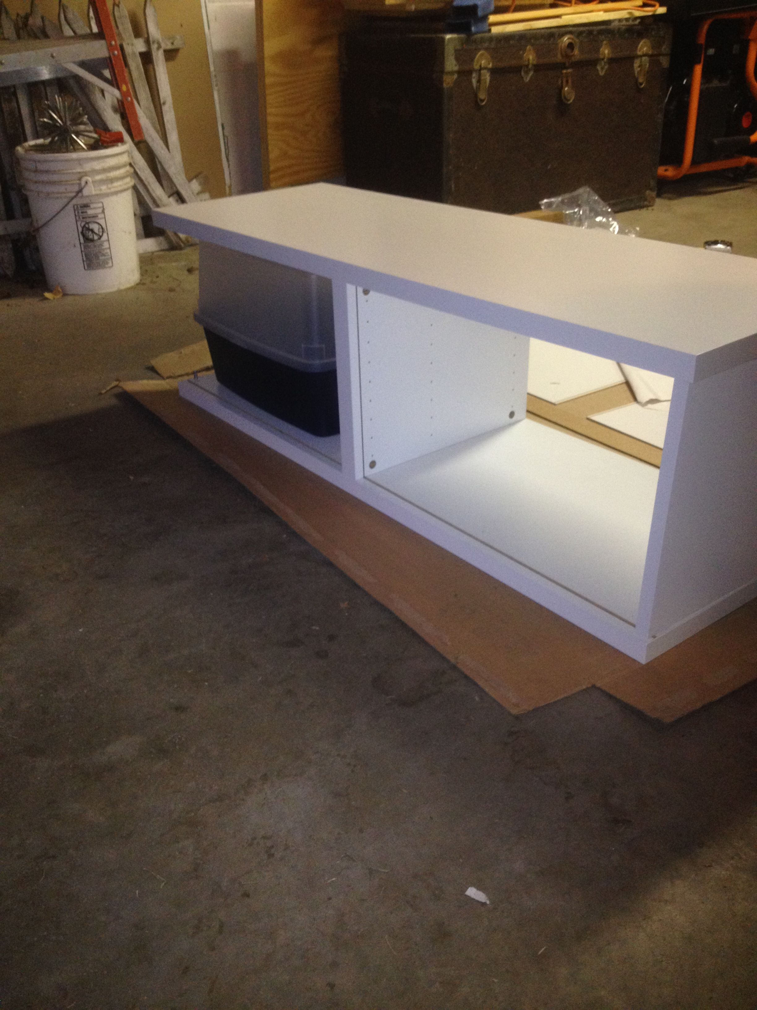 ikea hack besta storage cabinet hidden cat litter boxes. Black Bedroom Furniture Sets. Home Design Ideas