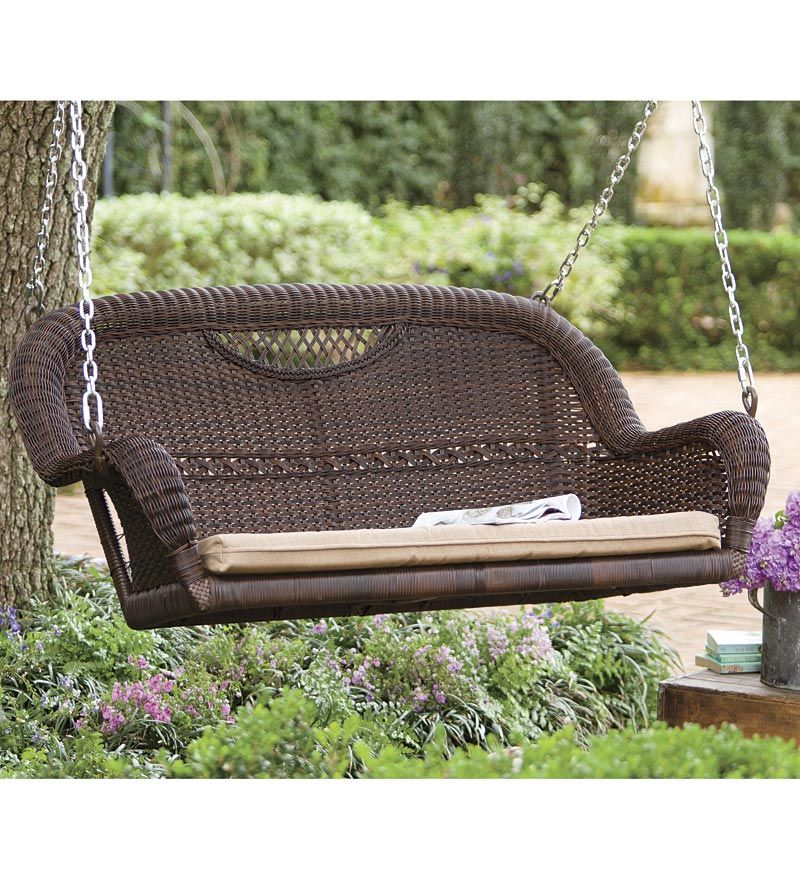 Plow and Hearth Wicker Double Swing