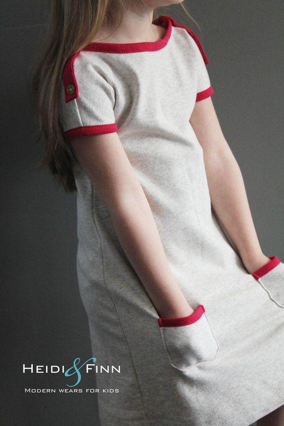 PlayDay Dress PDF pattern and tutorial 6-12 EASY SEW tunic dress jumper
