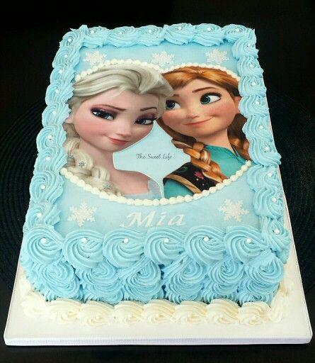 Sensational Frozen Cake With Images Frozen Themed Birthday Cake Frozen Birthday Cards Printable Benkemecafe Filternl