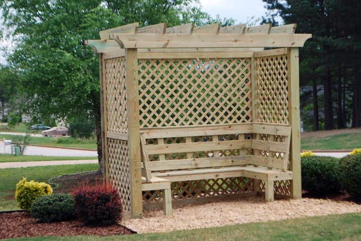 Wondrous 45 Garden Arbor Bench Design Ideas Diy Kits You Can Build Bralicious Painted Fabric Chair Ideas Braliciousco