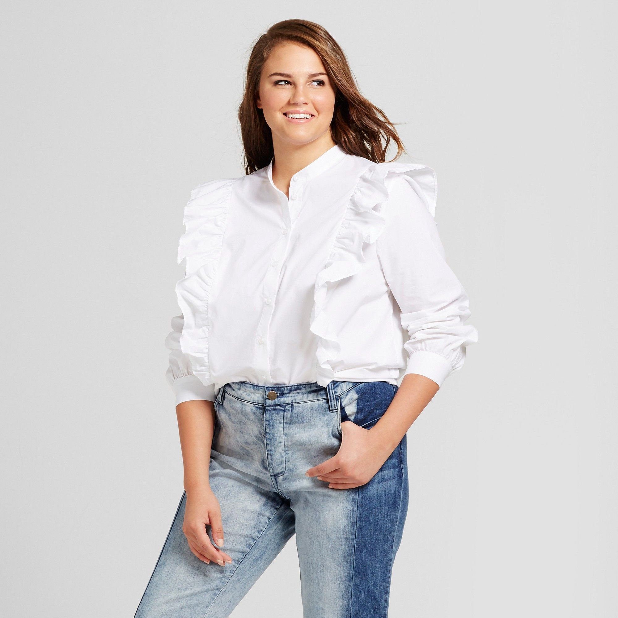 6856332d8b879a White Ruffle Shirt Plus Size – EDGE Engineering and Consulting Limited