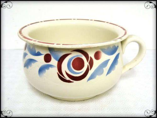 Ancien Pot De Chambre Vase De Nuit Faience De Digoin Sarreguemines Vase Pots Faience
