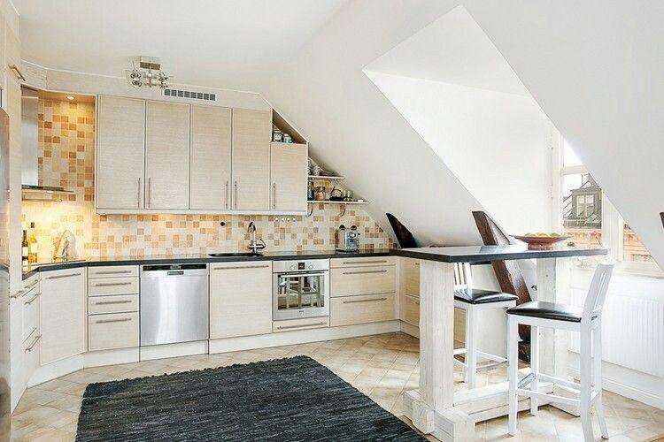 Pin by Christjanche on Haus Pinterest - küche in dachschräge