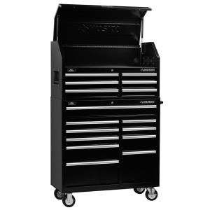 Husky Heavy Duty 52 In W 15 Drawer Deep Combination Tool Chest And Rolling Cabinet Set In Matte Black H52ch6tr9hd The Home Depot Tool Chest Tool Storage Cabinets Drawers