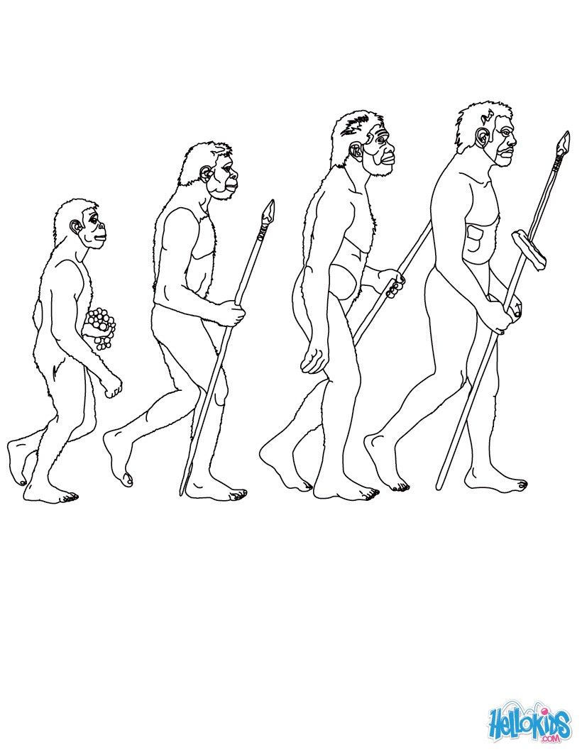 Color Online Prehistory Coloring Pages Prehistoric Man