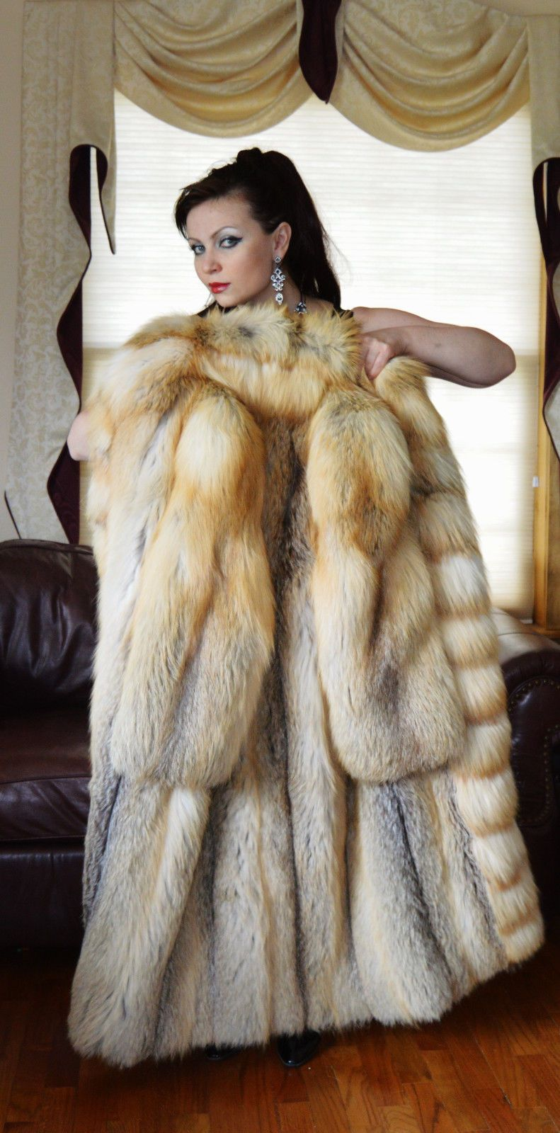 fur jacket naked women