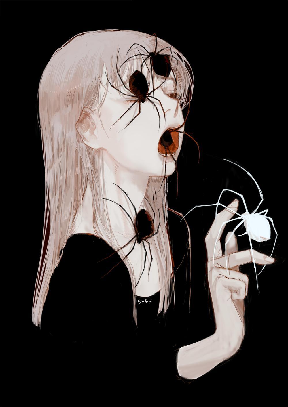 선주 on Anime Art in 2019 Horror art, Beautiful dark art