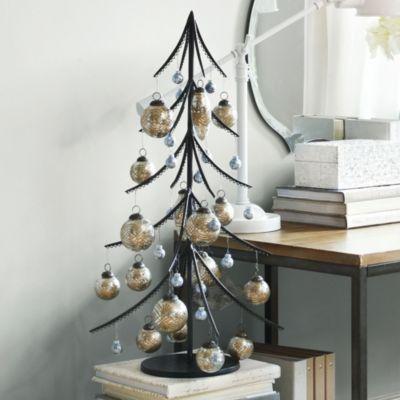 Iron Ornament Tree Ballard Designs Small Christmas Trees Decorated Metal Christmas Tree Small Christmas Trees