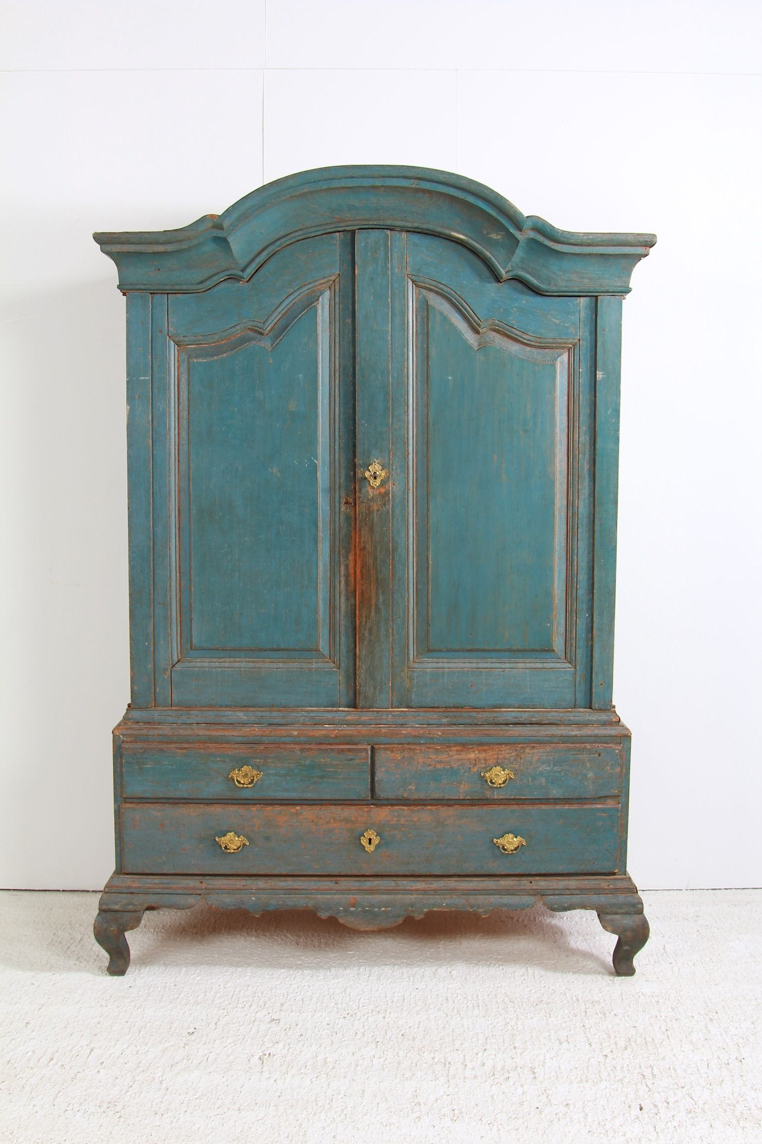 Swedish Cabinet With Original Blue Patina,At Anton & K Antiques