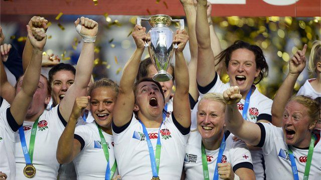 England Women On Dream World Cup Win Sport Event Womens Rugby England Rugby