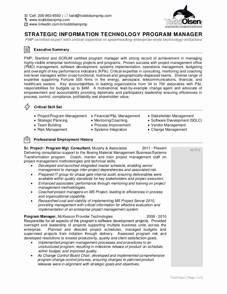 Scrum Master Resume Examples Beautiful Resume Of todd