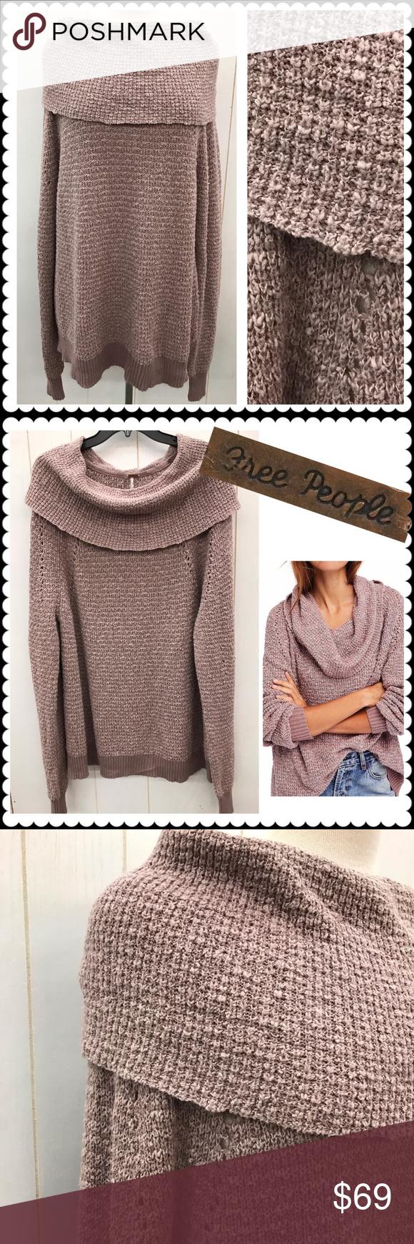 Free People Cowl Neck Oversized Sweater New Nwt My Posh Picks