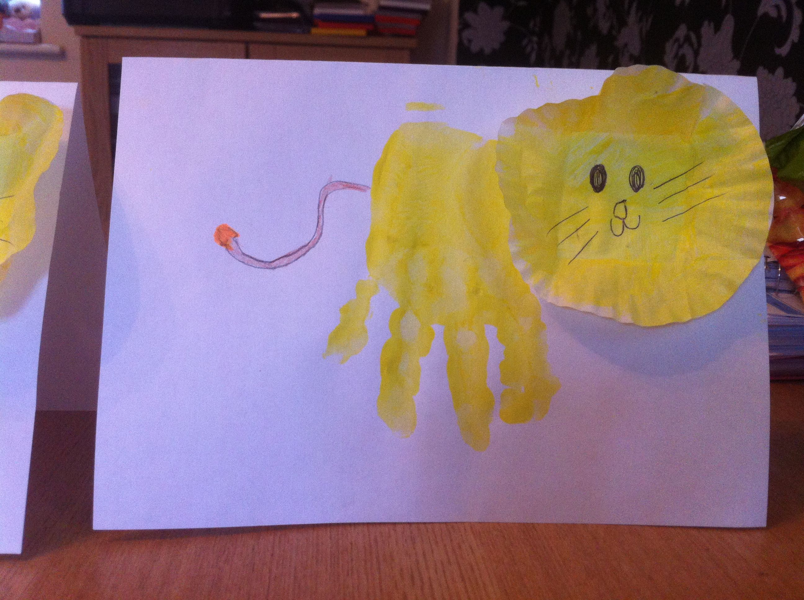 Kids Handprint Lion Nice Easy Way For The Kids To Have