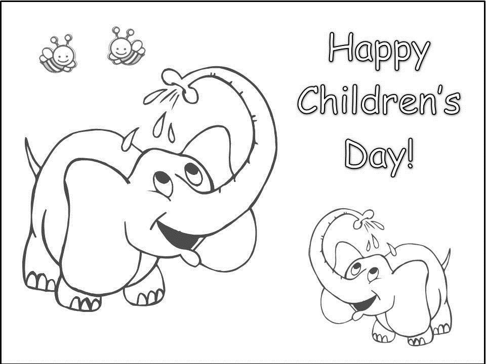 Happy Children's Day Printable Coloring Pages | Classroom ...
