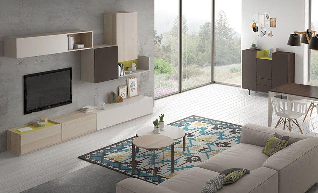 Mueble Apilable De Salon Diseno Moderno Y Sencillo Fijaron En El
