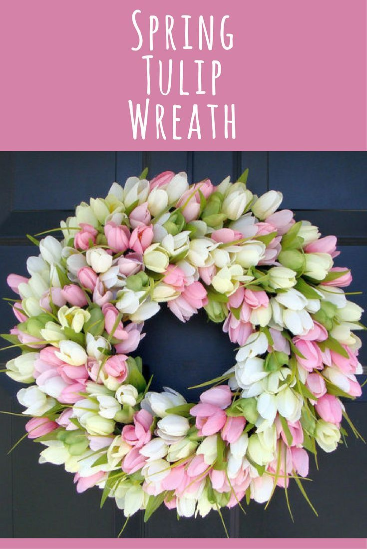 I've got the winter blues - ready for spring!!!  Spring Wreath- Door Wreath- Easter Wreath- Easter decor, Tulip Wreath- Sizes 16-26 inches, custom colors - The Original Tulip Wreath, home decor #ad