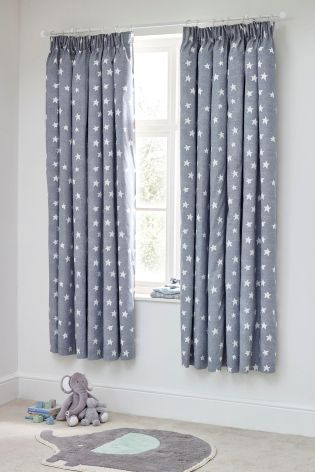 Buy Little Star Blackout Pencil Pleat Curtains From The Next UK Online Shop