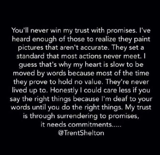 Through with the promises I need a COMMITMENT   Thoughts