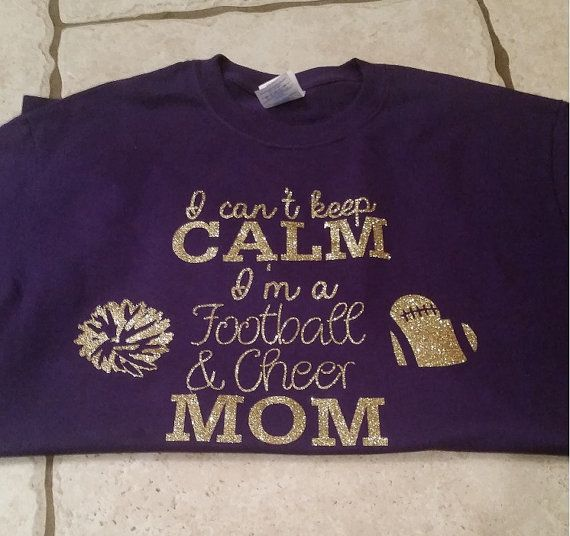 2090194a43cb This shirt is perfect for those of us mothers who cheer on our players in  multiple sports! The glitter stands out and makes your cheer and