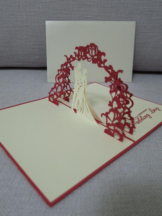 3d Pop Up Wedding Card Wedding Card Pop Up Card Greeting Card No 10 Pop Up Card Templates Birthday Card Template Cards Handmade