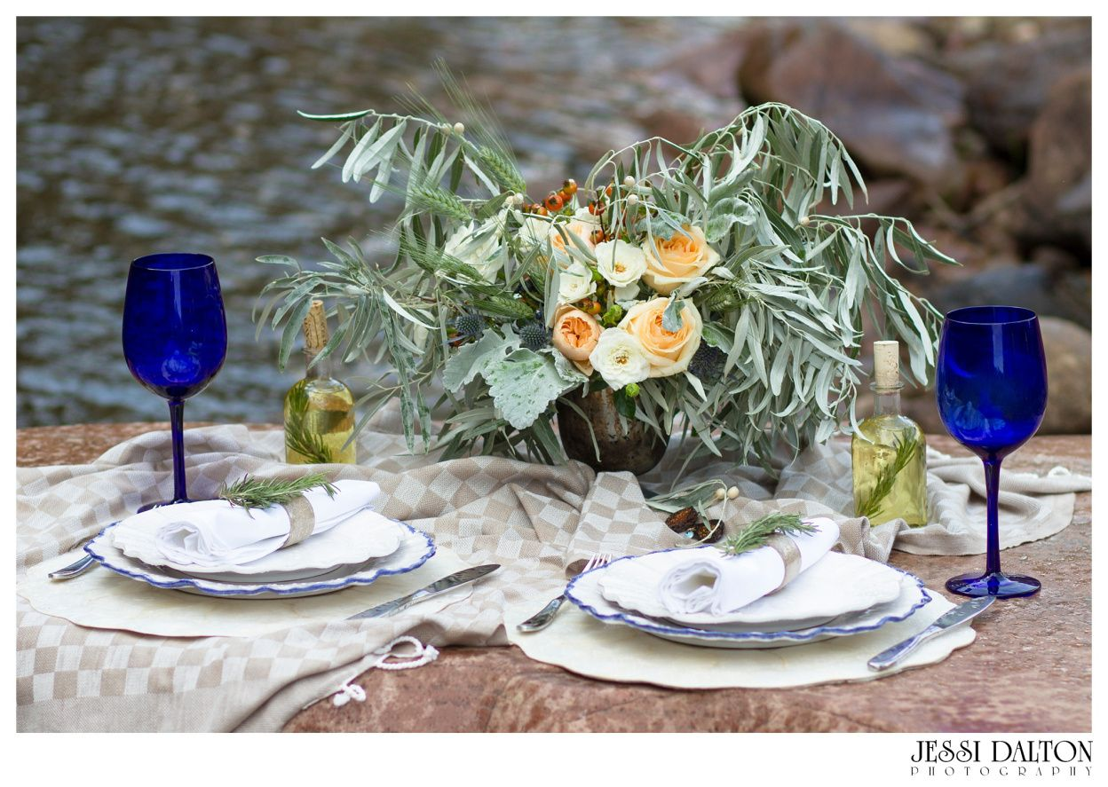 Grecian Inspired River Elopement in Lyons, Colorado | Florals by @EmmaLeaFloral | Coordinator @Purple Summer Events | www.jessidalton.com