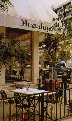 Mezzaluna in Brentwood, long gone now Outdoor decor
