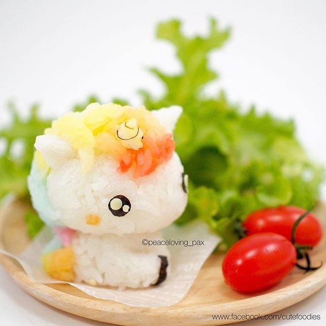 Kawaii my little unicorn onigiri rice ball cute food pinterest - Kawaii kochen ...