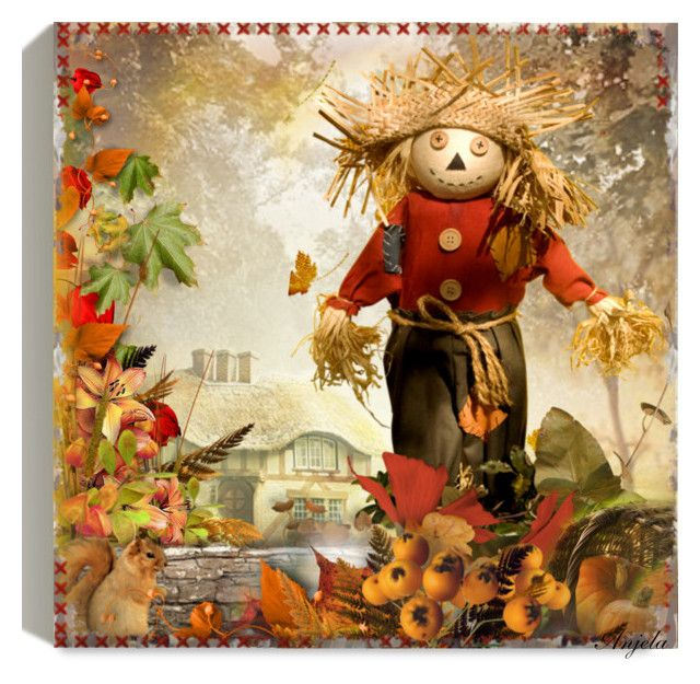 """""""The Autumn Garden"""" by anjelakewell ❤ liked on Polyvore featuring art"""