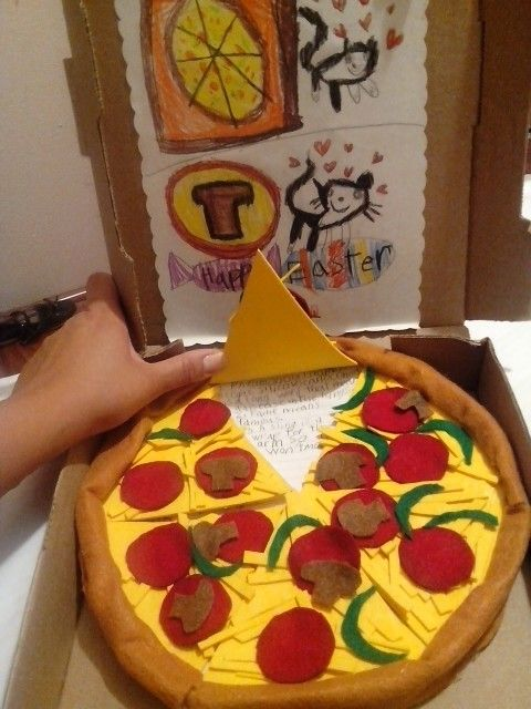 Pizza book report project | Stuff that I made/my ideas | Pinterest ...