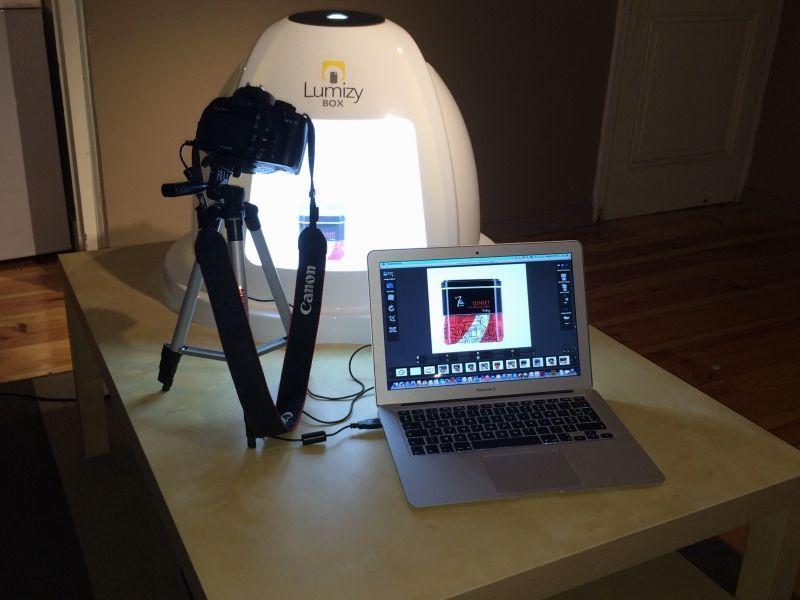 Pour photos e-commerce - taille de produit max : 45x53x30   logiciel Mac ou Pc pour Canon ou Nikon.Trépied photos inclus