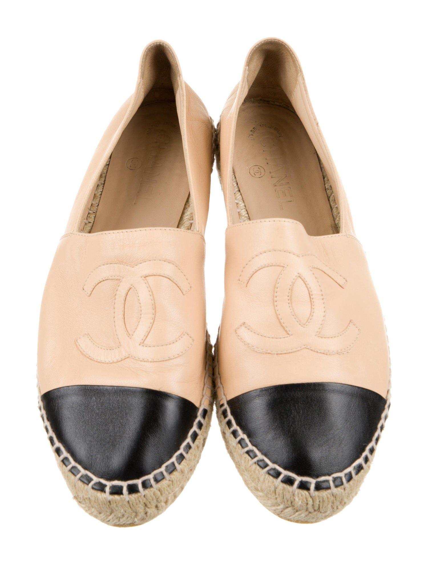 Chanel Lambskin CC Espadrilles