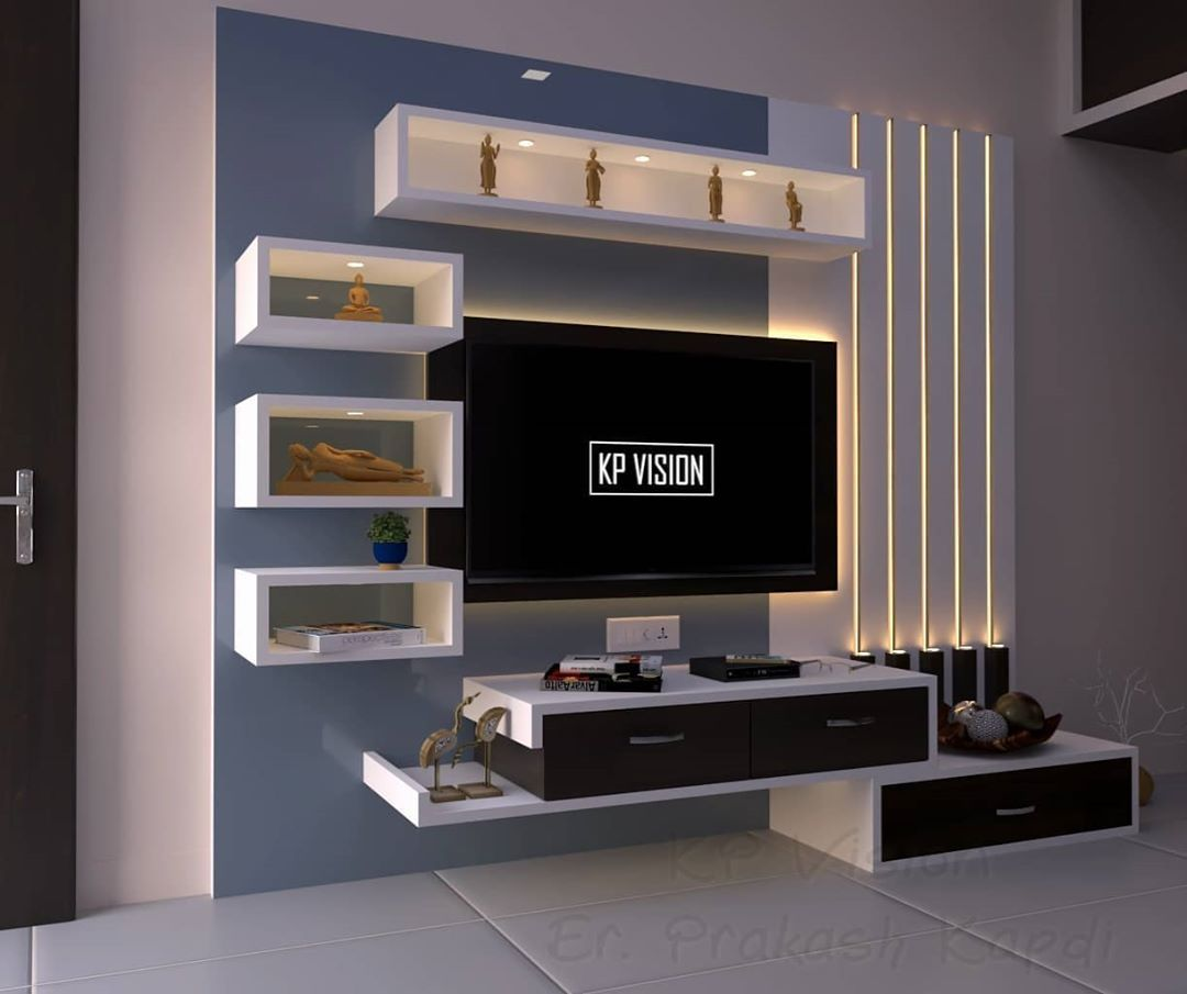 29 Likes 7 Comments Kp Interior Kpvision2020 On Instagram Latest Work At Anjar Living Room Tv Unit Designs Tv Unit Furniture Design Tv Unit Furniture
