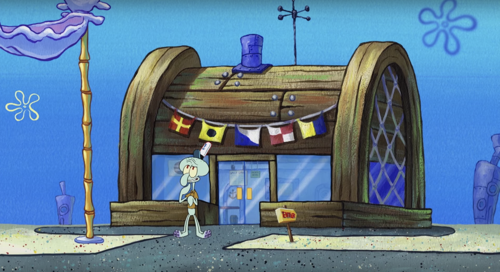 11 Cartoon Zoom Backgrounds Because We D All Rather Be At Spongebob S House Rn Background Under The Sea Background Walt Disney Pictures