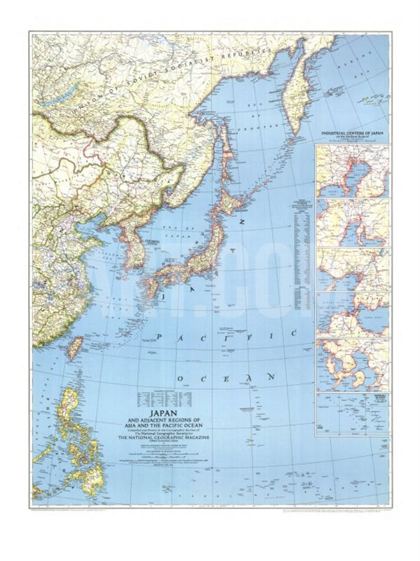 1944 japan and adjacent regions of asia and the pacific ocean map japan map 1944 with asia and the pacific ocean print at art gumiabroncs Choice Image
