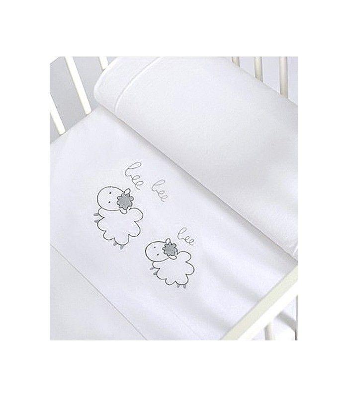 Sábanas bordadas ovejas Sonpetit   PUNTOS Y CRUCES   Baby embroidery ...