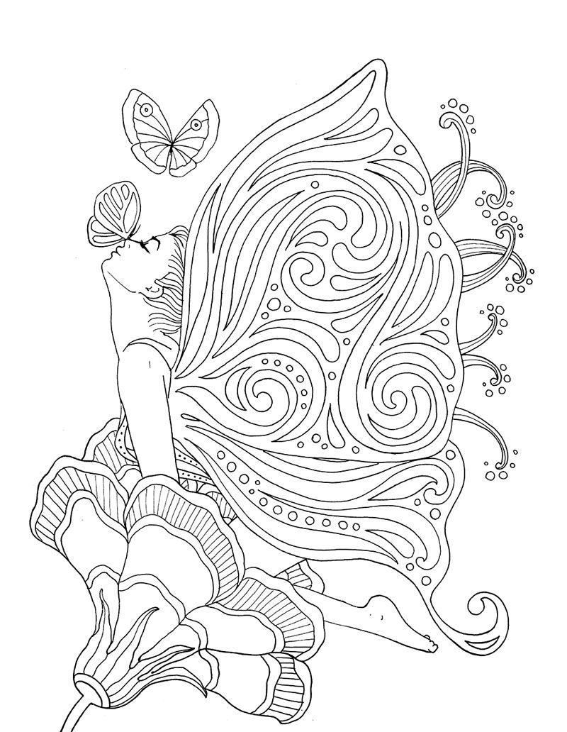Quot Pour Voir La Vie En Rose Quot Coloring Book Agenda 2016 Fairy Coloring Pages Butterfly Coloring Page Coloring Books [ 1032 x 800 Pixel ]