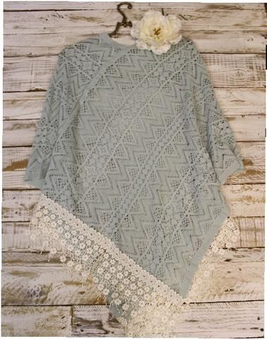 poncho - sweater - outfit - cape - lace - crochet - knitted - woman