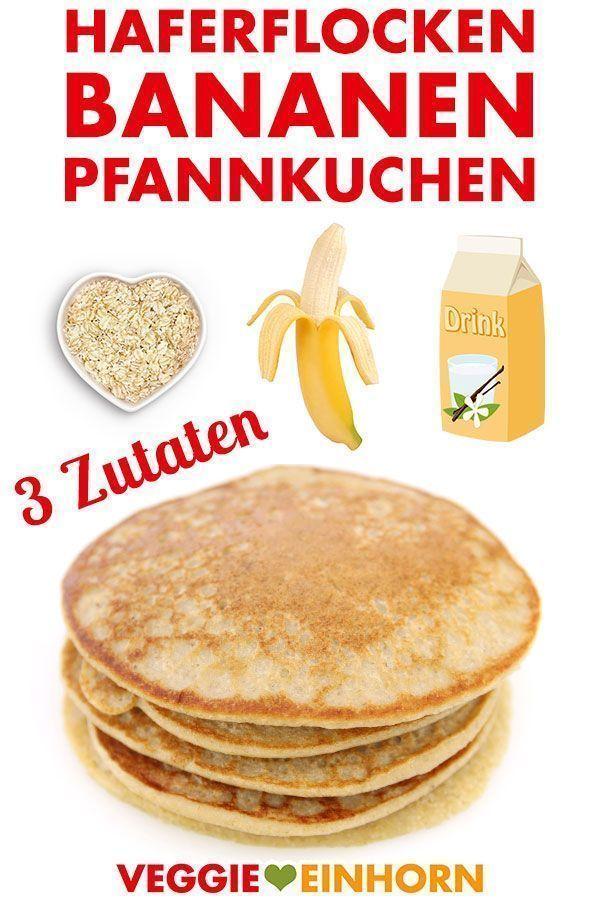 Photo of Vegan oatmeal banana pancakes