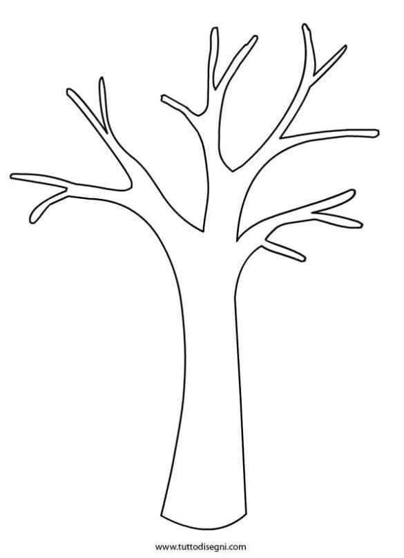 Дерево времена года ствол (с изображениями) | Осенние ...