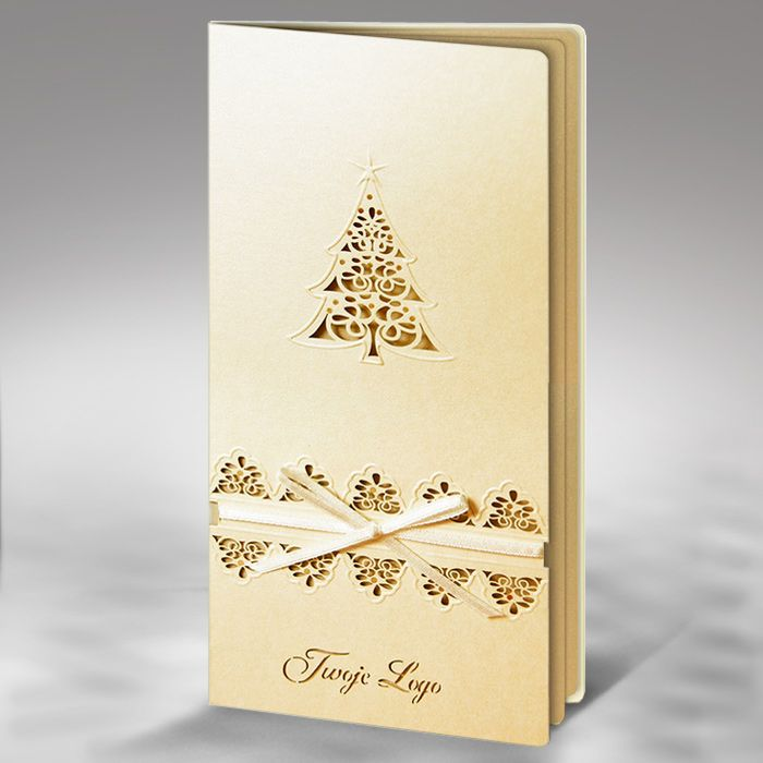 The Christmas card is made of high quality pearl ecru paper. The ...