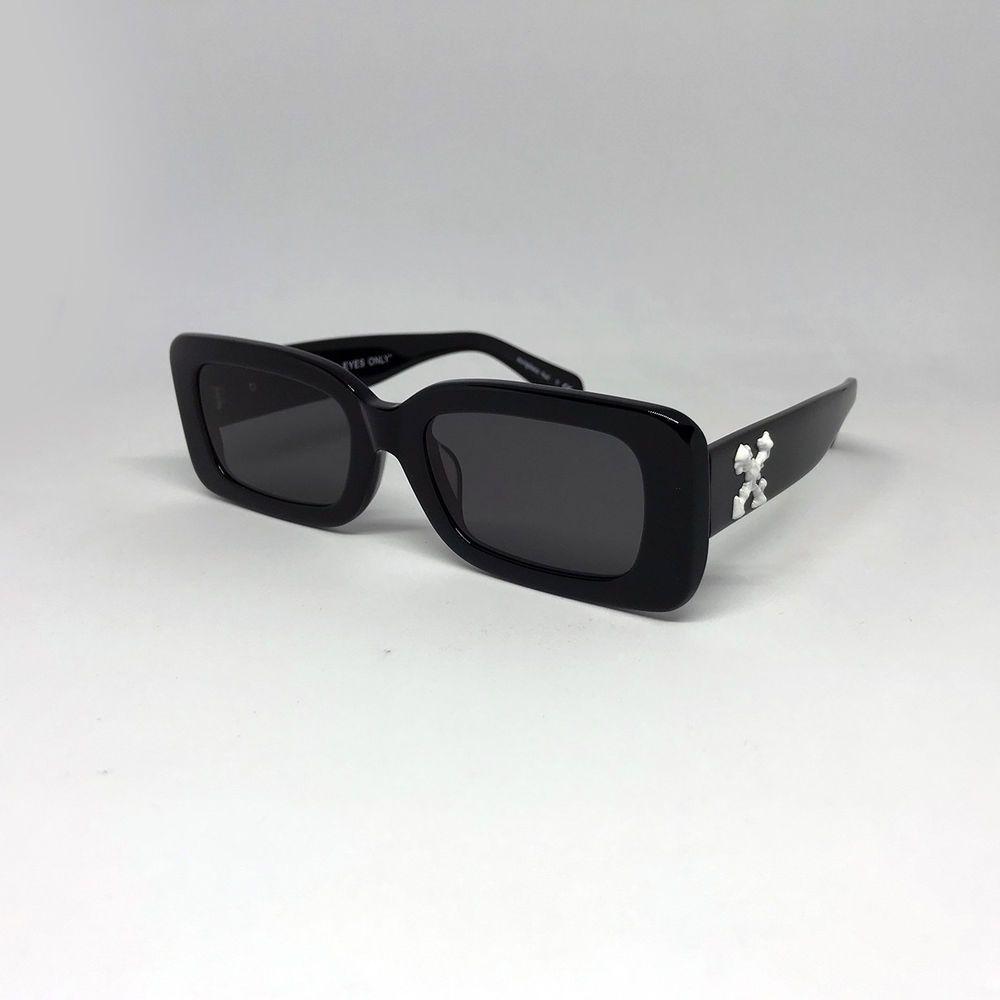 Sunglass Hut Fashion Advertisement: New Off-White C/o The Sun HU4001 Black Grey Sunglasses Hut