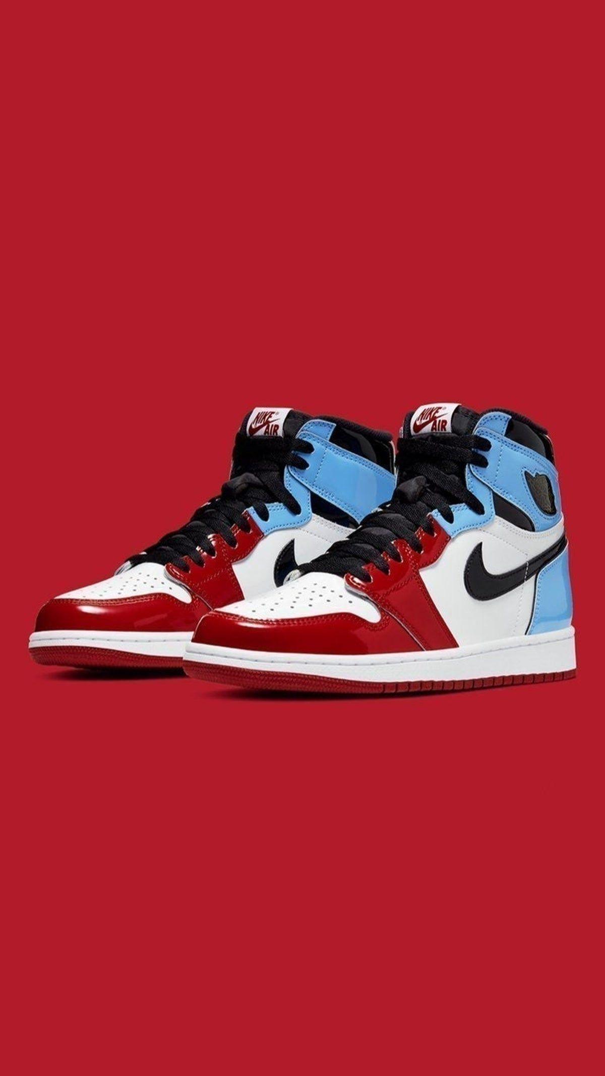 Air Jordan 1 High Fearless Unc Chicago Jordan Shoes Wallpaper Jordan Shoes Retro Shoes Wallpaper