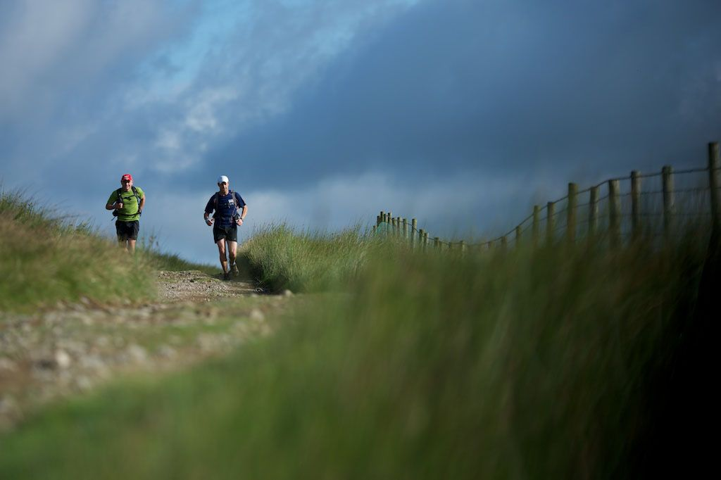 Lakeland 100 competitors pushing on towards the next checkpoint.
